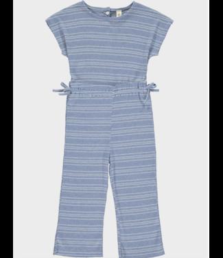 Vignette Phoebe Blue Cotton Jumpsuit