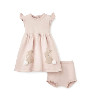 Elegant Baby Bunny Dress with Bloomers