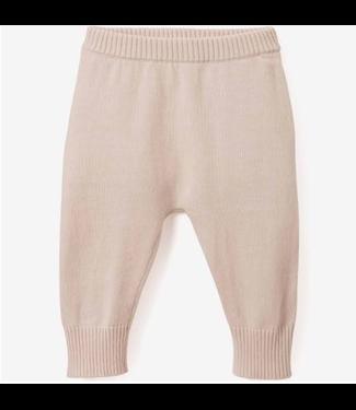 Elegant Baby Pink Knit Pants