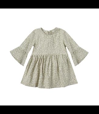Rylee + Cru Bell Dress Sage Garden