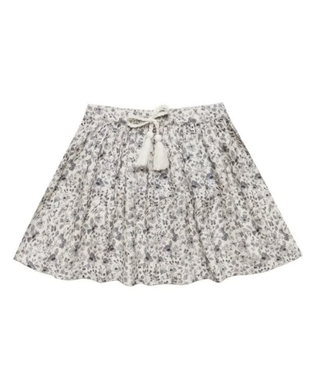 Rylee + Cru Blue Floral Mini Skirt