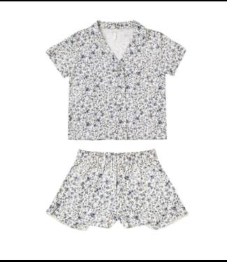 Rylee + Cru Blue Floral Bedtime Pajama