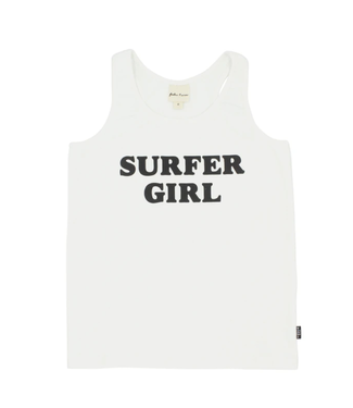 Feather 4 Arrow Surfer Girl White Tank