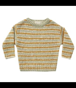 Rylee + Cru Aspen Sweater - Agave/Gold Stripe