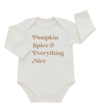 Emerson and Friends Pumpkin & Spice and Everything Nice LS Onesie
