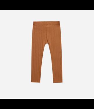 Rylee + Cru Ribbed Leggings : Rust
