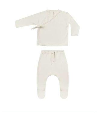 Quincy Mae Wrap Top + Pant Set - Ivory