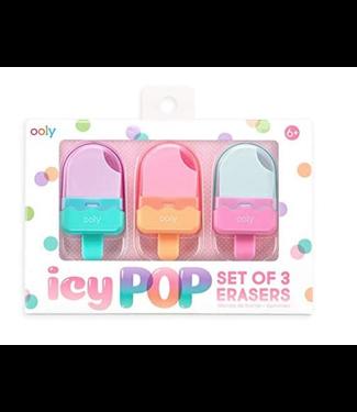 Ooly Ice Pop Eraser Set of 3
