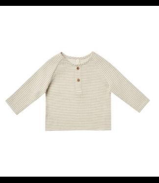 Quincy Mae Zion Shirt - Basil Stripe