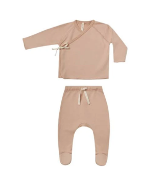 Quincy Mae Wrap Top + Pant Set - Petal