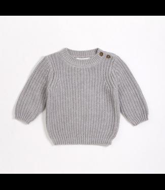 Grey Knit Baby Sweater