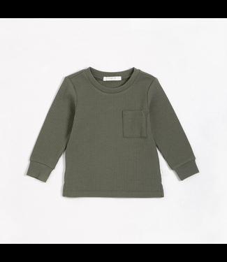 Olive Modal Rib Long-Sleeve T-Shirt