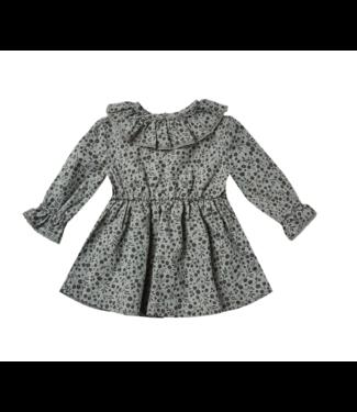 Rylee + Cru Ruffle Collar Baby Dress - Indigo Meadow