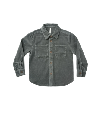 Rylee + Cru Corduroy Collared Shirt - Indigo