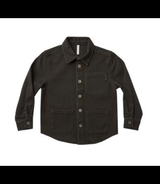 Rylee + Cru Collared Shirt - Vintage Black