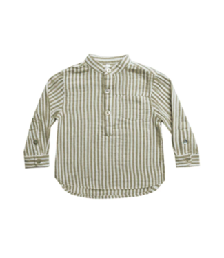Rylee + Cru Mason Shirt - Olive Stripe
