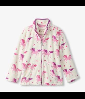 Hatley Twinkle Unicorns Fuzzy Fleece Zip up