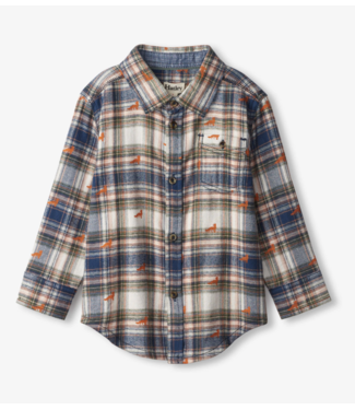 Hatley Mini Foxes Button Down Shirt