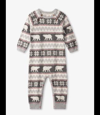 Hatley Polar Bear Fair Isle Baby Sweater Romper