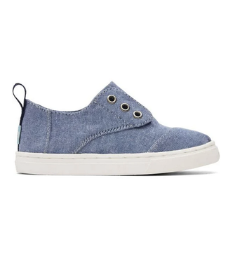 Toms Cordones Navy Blue Chambray