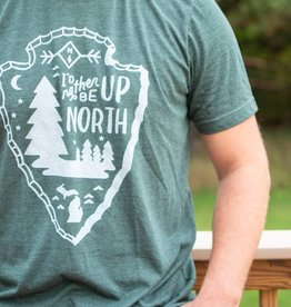 MIDWEST SUPPLY CO I'D RATHER BE UP NORTH T-SHIRT