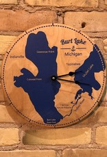 LOCAL MICHIGAN LAKES CLOCK