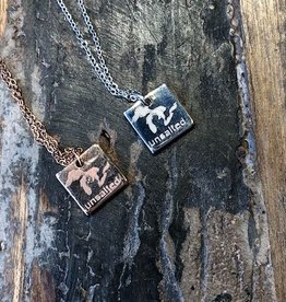 """MY CAPTURED JOURNEY SQUARE """"UNSALTED"""" NECKLACE"""