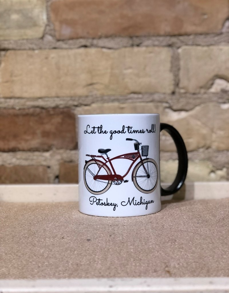 RED BICYCLE PETOSKEY MUG