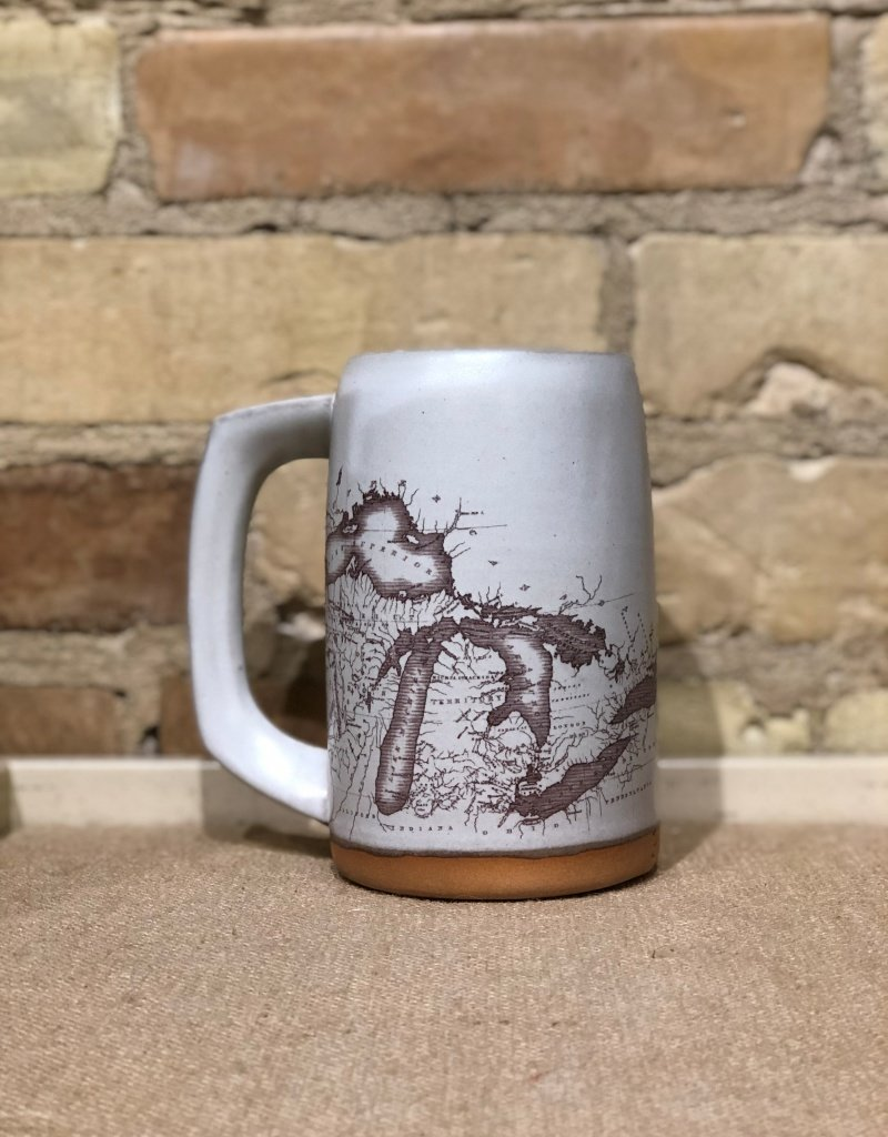 GRAYLING CERAMICS BEER STEIN-Multiple colors and designs available