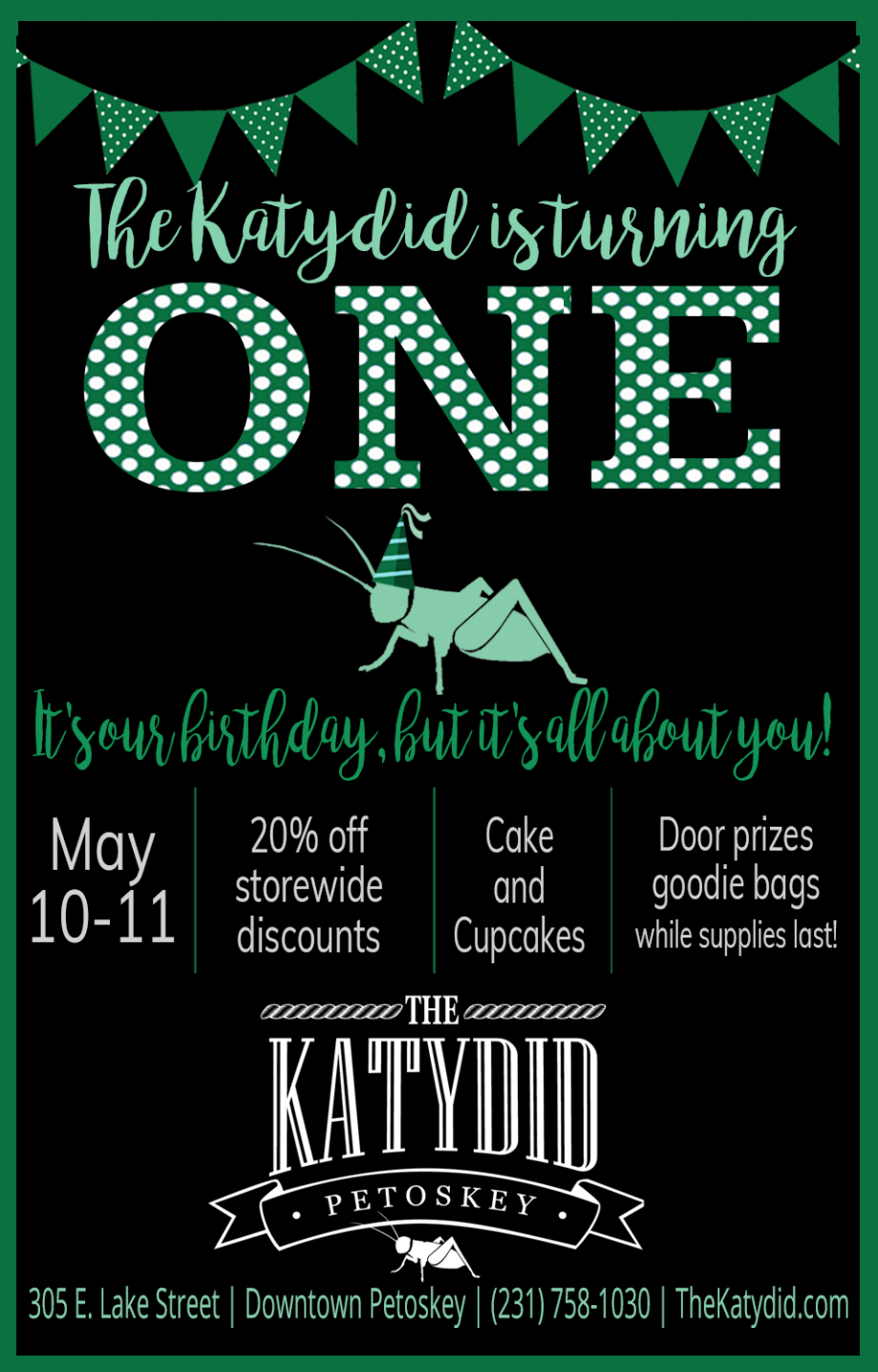 The Katydid is Turning One