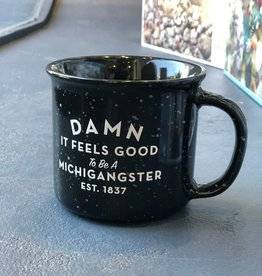 MIDWEST SUPPLY CO BLACK MICHIGANGSTER MUG