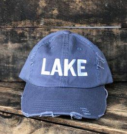 DISTRESSED LAKE HAT