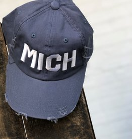 DISTRESSED MICHIGAN HAT