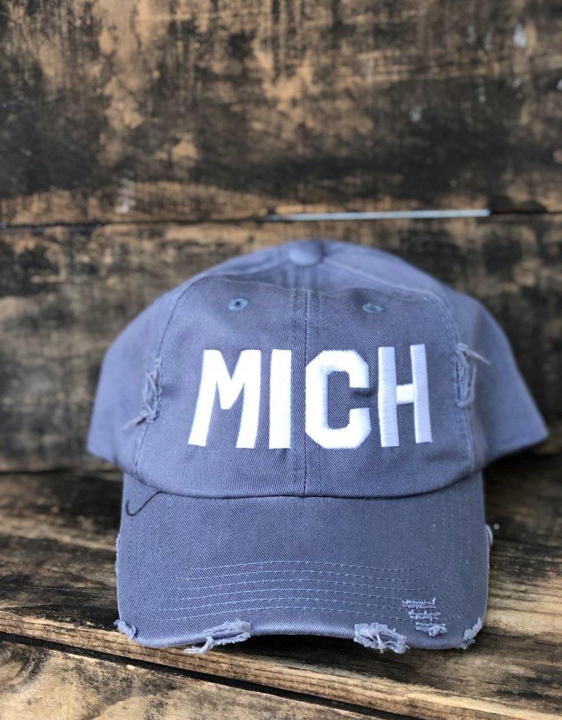 DISTRESSED MICHIGAN HAT