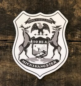 MICHIGANGSTER SHIELD STICKER