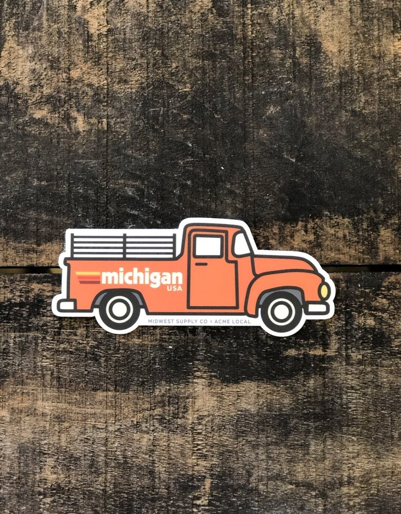 VINTAGE ORANGE TRUCK STICKER