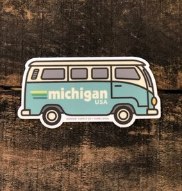 RETRO BLUE VAN STICKER