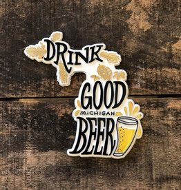 MIDWEST SUPPLY CO DRINK MICHIGAN BEER MAGNET