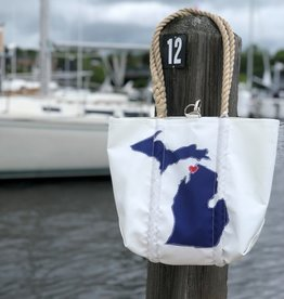 SEA BAGS SEA BAG HEART OVER PETOSKEY HANDBAG