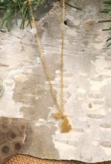 MY CAPTURED JOURNEY MINI MICHIGAN NECKLACE - GOLD