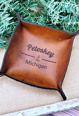 INGENEIUS LEATHER PETOSKEY COIN TRAY
