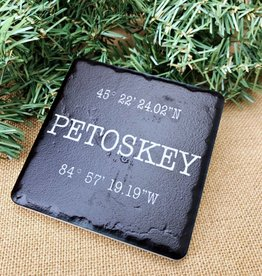 ICONIC DETROIT ART CO PETOSKEY COORDINATES COASTER