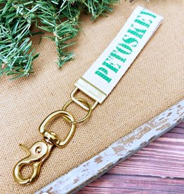 RUSTIC MARLIN PETOSKEY KEY CHAIN