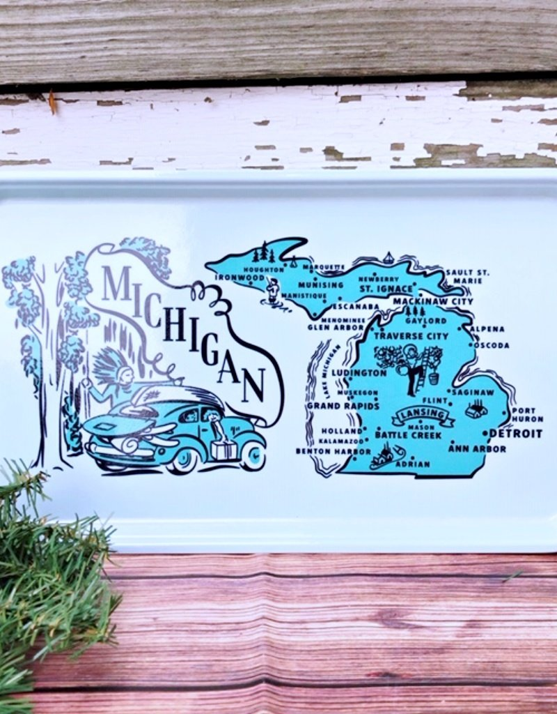 MICHIGAN SERVING TRAY
