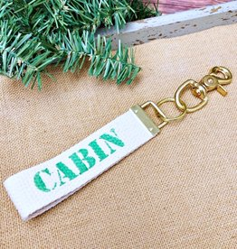 RUSTIC MARLIN CABIN KEY CHAIN