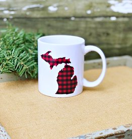 KRISTIN BLEYENBERG DESIGN MUG PLAID MICHIGAN-KBD001