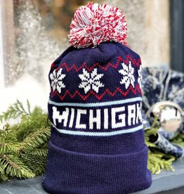 NAVY MICHIGAN BEANIE