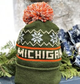 GREEN MICHIGAN BEANIE