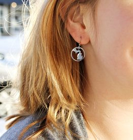 BE INSPIRED MICHIGAN CIRCLE EARRINGS