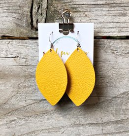 SWEET PEA + ME DESIGNS LEATHER EARRINGS - D